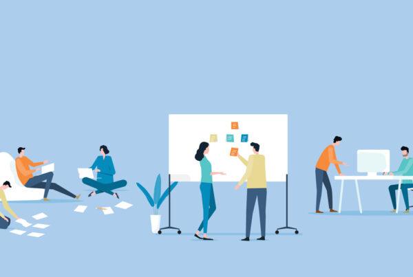 B2B Marketing team analyzing data.